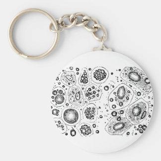 Cellular Design Key Ring