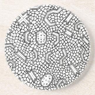 Cellular Indonesian Textile Pattern Coaster