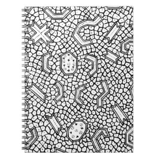 Cellular Indonesian Textile Pattern Spiral Notebook