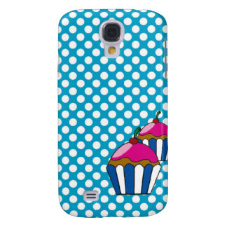 Cellular layer of cupcake and small balls samsung galaxy s4 cover