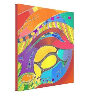 Cellular Light Abstract Art Canvas