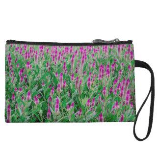 Celosia Flower Field Wristlet