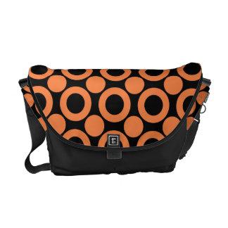 Celosia Orange Dot 3 Courier Bag