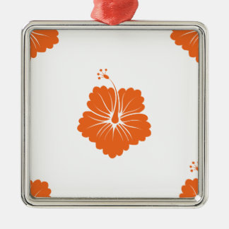 Celosia Orange Flower Pattern 3 Christmas Ornaments