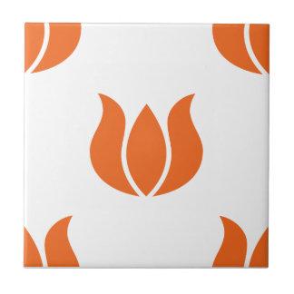 Celosia Orange Flower Pattern 5 Tiles