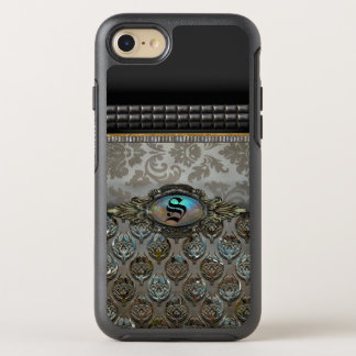 Celslinus Romantic Damask Pattern Monogram OtterBox Symmetry iPhone 8/7 Case