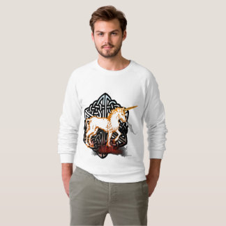 Celt Unicorn Men's Raglan Sweatshirt