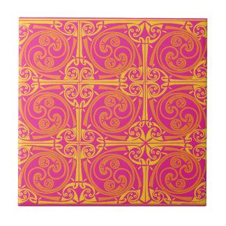 Celta print nº 3 small square tile