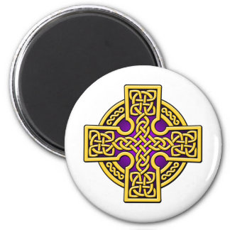 Celtic 4 way gold and purple fridge magnets