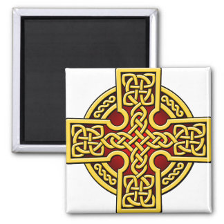 Celtic 4 way gold and red magnets