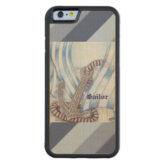 Celtic Anchor Nautical Carved Maple iPhone 6 Bumper Case