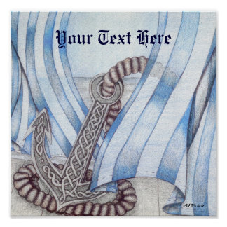 Celtic Anchor Nautical Poster