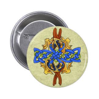 Celtic Birds 6 Cm Round Badge