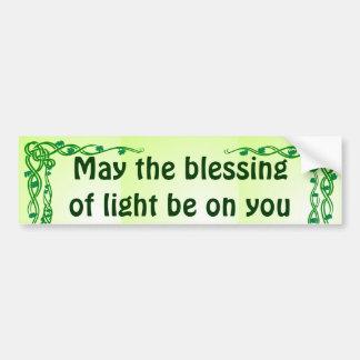 celtic blessing bumper sticker car bumper sticker