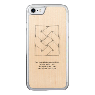 Celtic Blessing Carved iPhone 7 Case