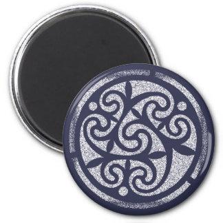 Celtic Blue A 6 Cm Round Magnet