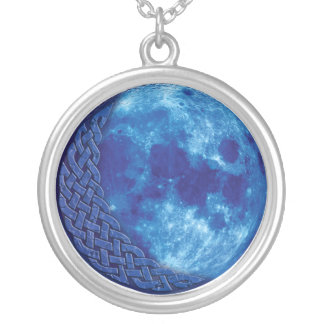 Celtic Blue Moon Pendant Necklace
