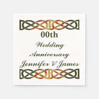 Celtic Braid Wedding Anniversary Disposable Serviettes