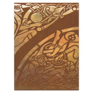 Celtic Brown Suade Tribal Art Tissue Paper