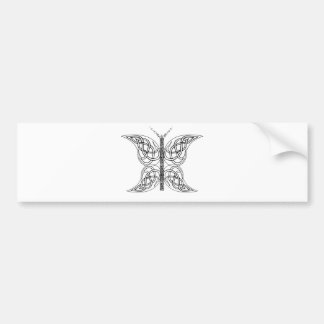 Celtic Butterfly Black and White Bumper Sticker