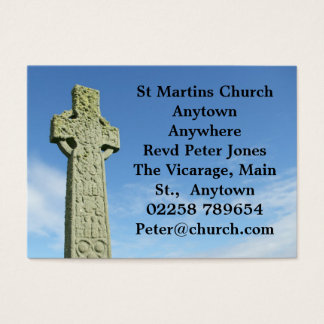 Celtic Christian cross business card