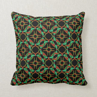 Celtic Christmas Holly Wreath Pattern Cushion