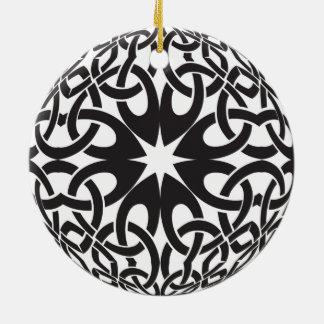 Celtic Circle Ceramic Ornament