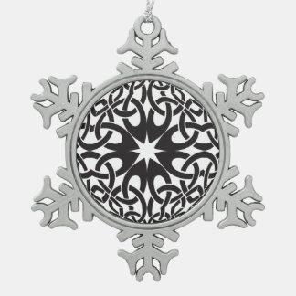 Celtic Circle Pewter Snowflake Decoration
