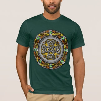 Celtic circle - steel and leather T-Shirt