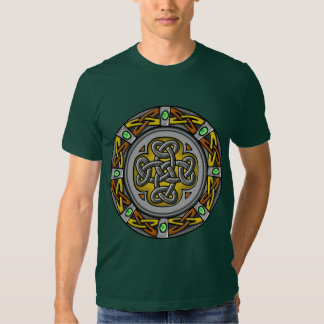 Celtic circle - steel and leather t shirts