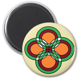 Celtic Circles 6 Cm Round Magnet