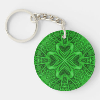 Celtic Clover Acrylic Keychains, 6 styles Key Ring