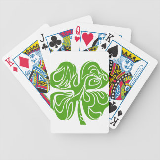 Celtic clover bicycle playing cards