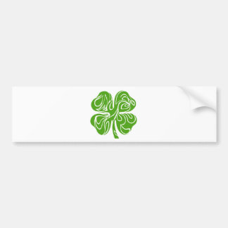 Celtic clover bumper sticker