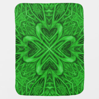 Celtic Clover Colorful Baby Blankets Buggy Blankets