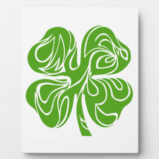 Celtic clover display plaques