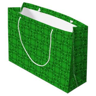 Celtic Clover Green Kaleidoscope Gift Bags