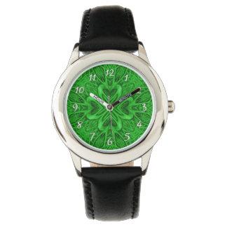Celtic Clover Green   Vintage Kids Watch