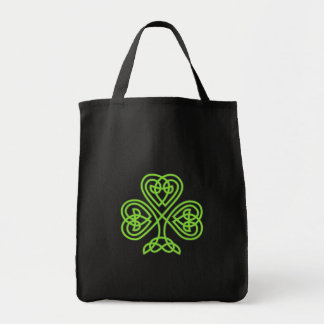 Celtic Clover grocery tote