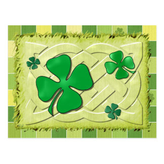 Celtic Clover Irish 3D Postcard