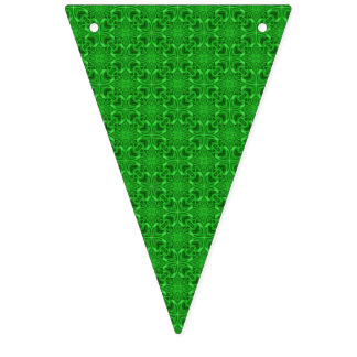 Celtic Clover Kaleidoscope Bunting Flags