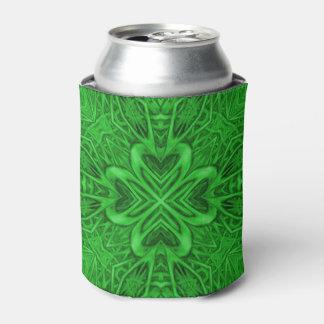 Celtic Clover Kaleidoscope Can Cooler