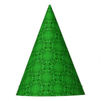 Celtic Clover Kaleidoscope Customizable Party Hat