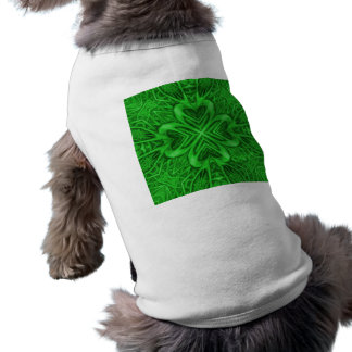 Celtic Clover Kaleidoscope Dog Shirts Sleeveless Dog Shirt