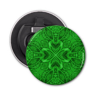 Celtic Clover Kaleidoscope  Magnetic Bottle Opener