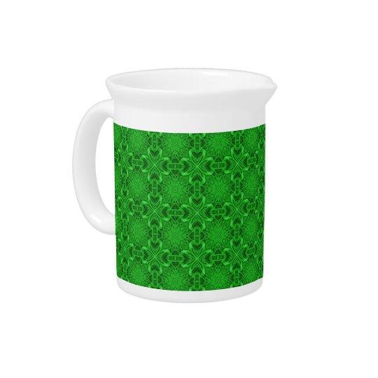 Celtic Clover Kaleidoscope Porcelain Pitchers