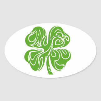 Celtic clover oval sticker