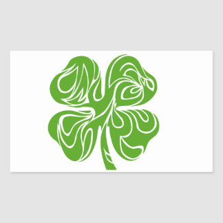 Celtic clover rectangular sticker