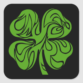 Celtic clover square sticker