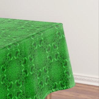 Celtic Clover Tiled Cotton Tablecloth